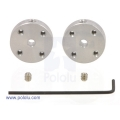 Universal Aluminum Mounting Hub for 3mm Shaft Pair; 4-40 Holes