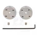 Universal Aluminum Mounting Hub for 3mm Shaft Pair; 2-56 Holes