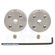Pololu Universal Aluminum Mounting Hub for 4mm Shaft Pair; 4-40 Holes