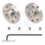 Pololu Universal Aluminum Mounting Hub for 6mm Shaft Pair; 4-40 Holes