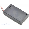 3-AAA Battery Holder; Enclosed with Switch
