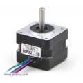 Stepper Motor: Bipolar; 200 Steps/Rev; 35x28mm; 10V; 500mA