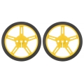 Pololu Wheel 60x8mm Pair - Yellow