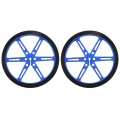 Pololu Wheel 80×10mm Pair - Blue