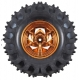 Dagu Wild Thumper Wheel 120x60mm Pair with 4mm Shaft Adapters - Gold