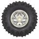 Dagu Wild Thumper Wheel 120x60mm Pair with 4mm Shaft Adapters - Chrome