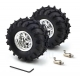 Dagu Wild Thumper Wheel 120x60mm Pair with 4mm Shaft Adapters - Chrome