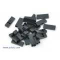 Crimp Connector Housing: 1x2-Pin 25-Pack