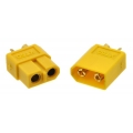 XT60 Connector Male-Female Pair; Yellow