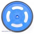 """2-5/8"""" plastic Blue wheel Futaba servo hub"""