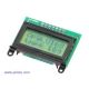 8x2 Character LCD - Black Bezel Parallel Interface