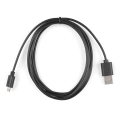Reversible USB A to Reversible Micro-B Cable - 2m