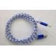 3FT BLUE-LED Light Micro USB 2.0
