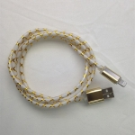 3FT GOLD-LED Light Micro USB 2.0