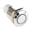 Metal Pushbutton - Latching 16mm, Blue