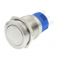Stainless Steel Round Latching Push Button Switch