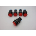 16MM Red ROUND Maintained Latching PUSH BUTTON SWITCH 3 PINS 250V 3A 1PS