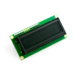 Serial Enabled 16x2 LCD - Amber on Black 3.3V