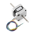 Stepper Motor - 29 oz.in 200 steps/rev, Threaded Shaft