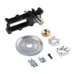 Channel Mount Gearbox Kit - 360° Rotation 5:1 Ratio