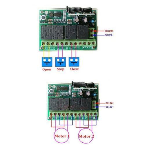 12V 3A 4CH 200M Wireless Remote Control Relay Switch