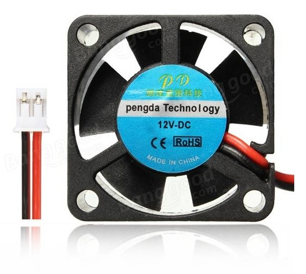 Cooling Fan 25x25x10mm (12V)